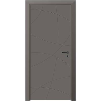 VARIODOR Alize PVC Modern Antrasit Vda 100 Camsız Kapı